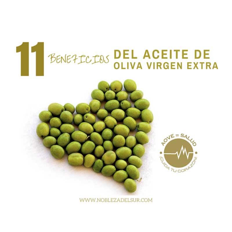 11 beneficios del Aceite de Oliva Virgen Extra