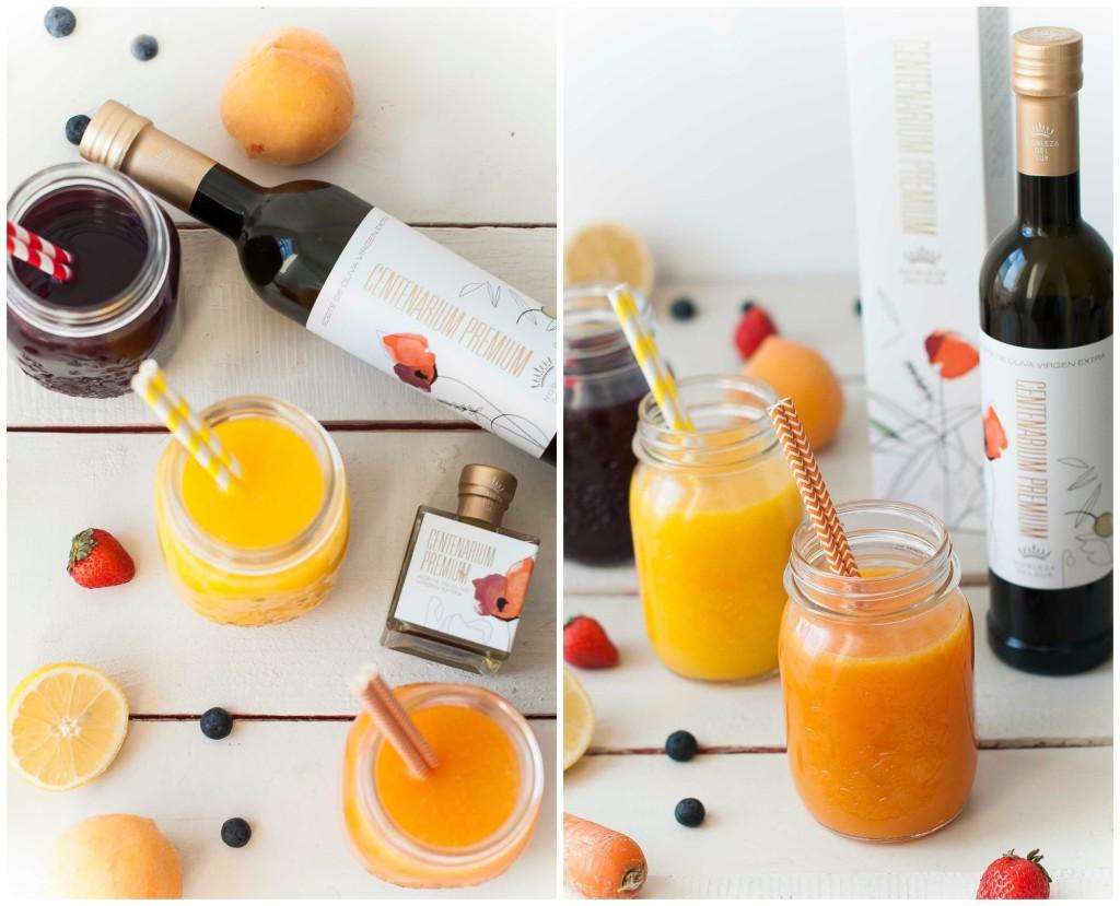 Smoothies nobleza del sur zumos detoz de remolacha zanahoria y mango