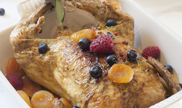 Pollo relleno de frutos secos Y aove nobleza del sur