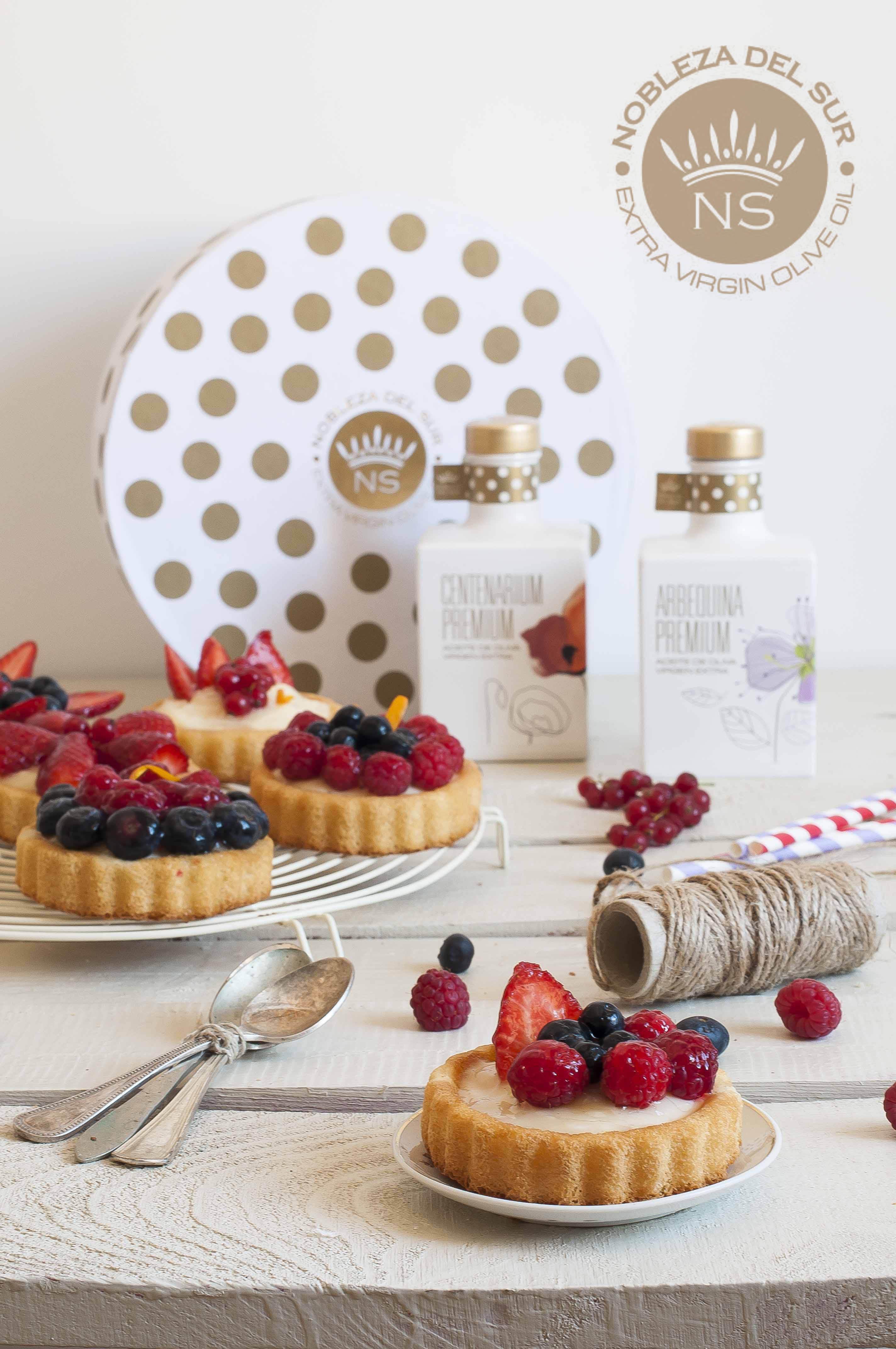 Tartaletas de fruta con crema de AOVE
