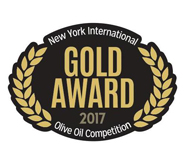 NYIOOC 2017, GOLD MEDAL IN ARBEQUINA PREMIUM