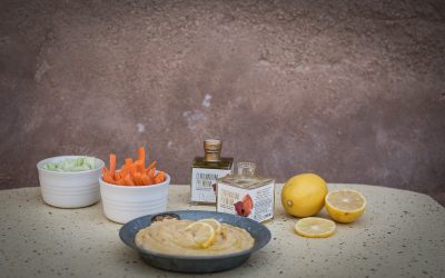 Hummus y crudités